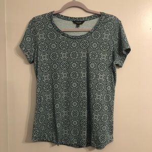 Vera Wang Blue Short Sleeve Top